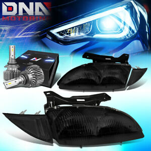 For 1995 1999 Chevy Cavalier Oe Style Headlight Lamp W led Kit Slim Style Smoked
