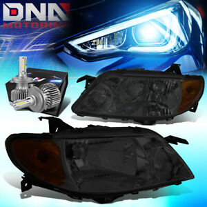 For 2001 2003 Mazda Protege Oe Style Headlight Lamp W Led Kit Slim Style Smoked