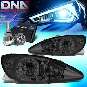 For 2002 2004 Camry Xv30 Headlight Head Lamps W led Kit Slim Style Smoked clear