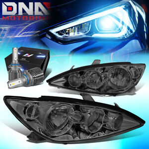For 2005 2006 Toyota Camry Xv30 Headlight Head Lamps W Led Kit Cool Fan Smoked
