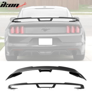 Fits 15 20 Ford Mustang 2018 Performance Pack Style Trunk Spoiler Unpainted