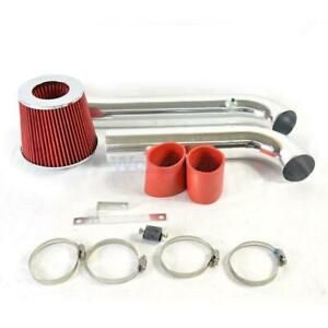 L4 4cyl Cold Air Intake Kit Red Filter For 94 02 Honda Accord Dx Lx Ex Se