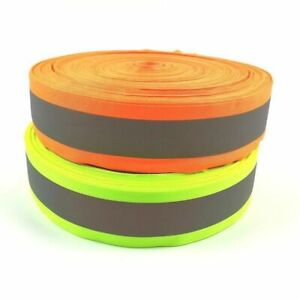50mmx30mm 100 Meter Oxford Reflective Fabric Sewing Tape Sewn On Tape Strip