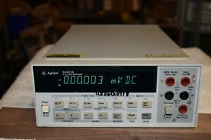 Agilent 34401a Digital Multimeter 6 5 Digits Works Well Good Condition