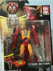 HOT ROD + FIREDRIVE Transformers Titans Return Generations Deluxe Hasbro 190708a $18.10
