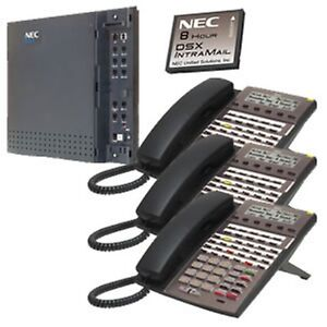 Nec Dsx Systems Nec 1091026 Kit Dsx40 And Intramail And 3 34b Phones Free Ship