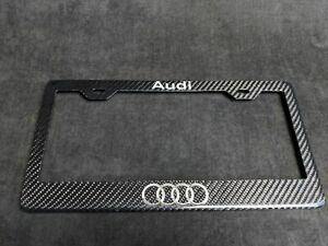Audi License Plate Frame Cover Real Carbon Fiber A4 A5 S4 S6 Rs4 Rs5 Rs6 A7