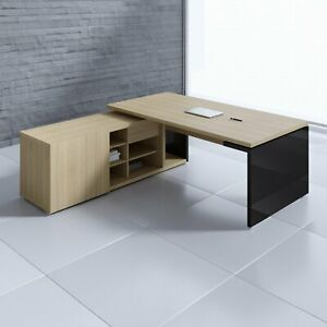 Mito 71 82 Executive Desk With Managerial Side Storage