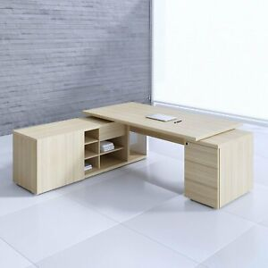 Mito 88 99 Executive Desk With Managerial Side Storage Pedestal