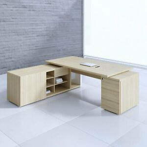 Mito 80 91 Executive Desk With Managerial Side Storage Pedestal