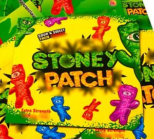 50 Bags Yellow Original Stone Patch Zip Lock Empty Cookies Candy Bags