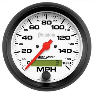 Autometer Phantom Series Speedometer 0 160 Mph 3 3 8 Dia Electrical 5888