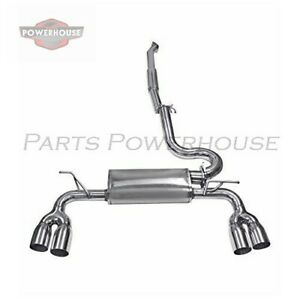 Dc Sports Dts6601 Dual Tip Exit Stainless Steel Cat back Exhaust System