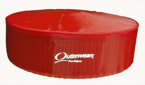 Outerwears Performance Products 10 1014 03 Red 14 X 4 Pre filter W top Cover