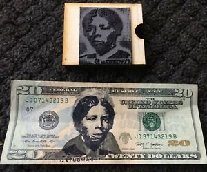 Harriet Tubman Rubber Stamp For 20 Bill Includes Ink Pad And Instructions