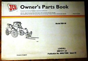 Jcb 520 Le Loadall Owner s Parts Manual new 9800 7824 Issue 5