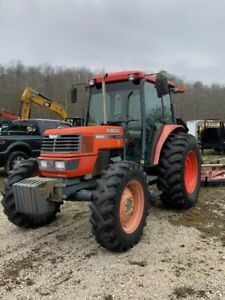 2002 Kubota M9000 4wd Diesel Tractor Utility Ag With 2615 Bushhog 15ft Batwing