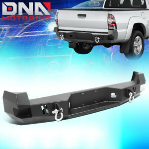 For 2005 2015 Toyota Tacoma Rear Steel Step Bumper Face Bar W D Ring Shackles