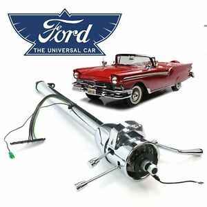49 59 Ford Edsel Chrome Tilt Steering Column Shift 33 Mel 6 7l Fairlane Corsair