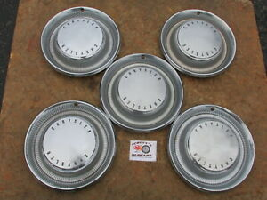 1974 78 Chrysler Newport New Yorker 15 Wheel Covers Hubcaps Lot Of 5