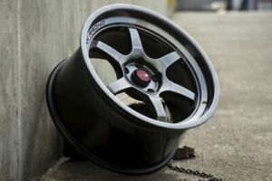 18 Inch Aodhan Ah08 Hyper Black Wheels 18x8 5 30 5x114 3 Rims Set 4
