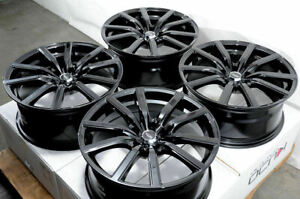 18x8 Black Wheels Fits Acura Mdx Rsx Tsx Honda Civic Accord Camry Lancer Rims