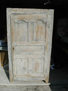 1700 S One Door Primitive Farm House Antique Cupboard Cabinet Large 72 Tall Wow