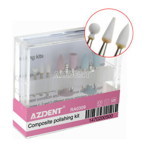 Burs Dental Composite Polishing Kit F Low speed Handpiece Contra Angle Ra 0309