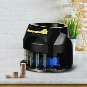 Auto Coin Sorter Dispenser Counting With Coin Tubes Led Display