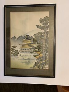 Japanese Woodblock Print By Uchida Art Co Framed Excellent Condition 14x20