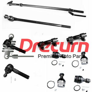 10pcs Tie Rod Ball Joint Kit For 1986 1996 Ford F 150 Bronco 4wd