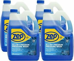 Zep All in 1 Pressure Wash Cleaner Zuppwc160 case Of 4 Concentrated Pro Formula