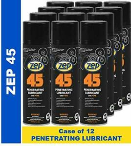 Zep 45 Penetrating Lubricant Aerosol 17401 case Of 12 The Lubricant For Pros