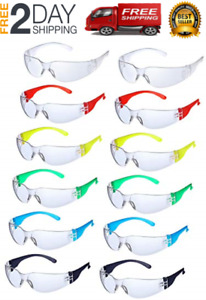 24 Pieces Protective Eyewear Anti fog Safety Glasses Impact Resistant Lens