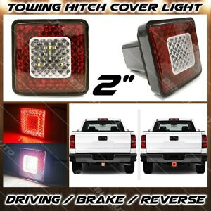 Universal 2 Trailer Tow Hitch Receiving Cover Led Light W Driving Brake Reverse