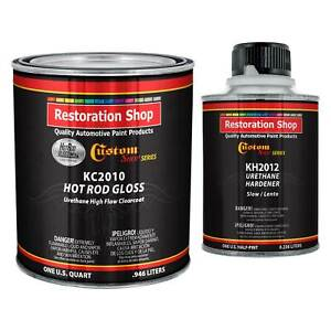 Complete Kit Hot Rod Gloss Urethane High Flow Clearcoat With Hardener Quart