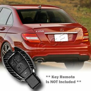 Real Carbon Fiber Remote Key Shell Cover Case Fit Mercedes Benz C180 200 250 300
