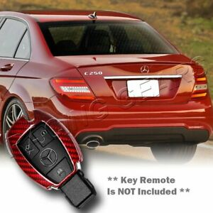 Real Red Carbon Remote Key Shell Cover Case Fit Mercedes Benz C180 200 250 300