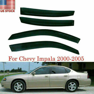 Fit Chevy Impala 2000 2005 Window Visors Wind Sun Rain Guards Out channel Shield