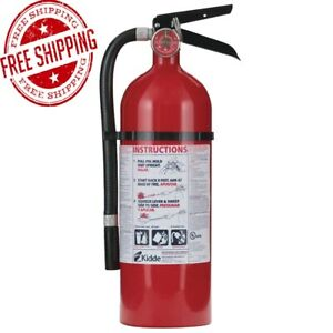 Kidde Pro 2a 10 b c Fire Extinguisher 5 Lb Mounting Bracket Dry Chemical Safety