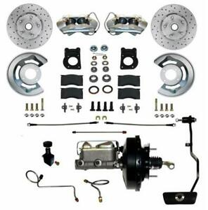 Leed Brakes Fc0002 3405ax Disc Brake Front Conversion Power Assist Cross drilled