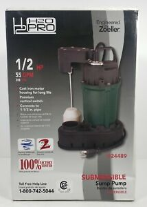 Zoeller H2o Pro 1 2 Hp Submersible Sump Pump 55 Gpm 24489