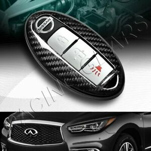 Real Carbon Fiber Remote Key Shell Cover Case Fit Infiniti G25 G35 G37 M35 M45