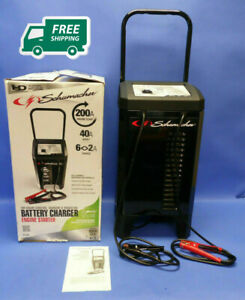 Electric Battery Charger Wheel 200 Amp Automotive Portable Car Jump Starter New