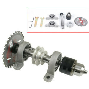 Full Kit Diy Spindle Chuck Bearing Seat Pulley Bench Saw Drill Lathe Chuck 20mm