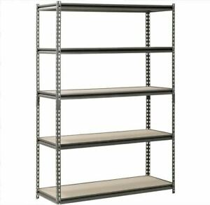Edsal Muscle Rack Shelving Heavy Duty Adjustable 5 Shelf Steel 48 W X 18 D X 72h