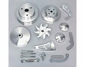 March Performance Pulley Kit Serpentine Aluminum Clear Sbc Kit 22050
