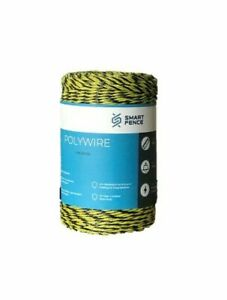 Electric Fence Polywire 200m 656 Garden Yard Pet Animal Pasture Enclosure