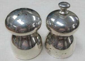 Vintage Sterling Silver Salt Pepper Shakers Made In Italy 134 5gr Ss 24