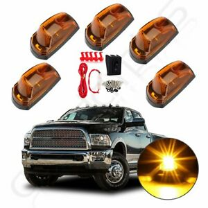 5x Yellow Led Cab Marker Roof Running Light For 2017 2019 Ford F250 F350 switch